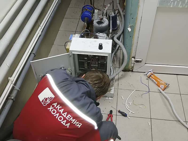 Фото монтаж холодильной установки