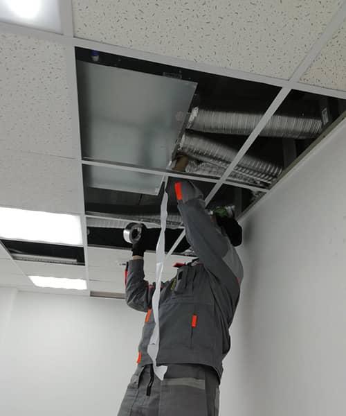 Фото монтаж систем вентиляции